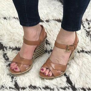 Michael Kors Caramel Wedge Sandals
